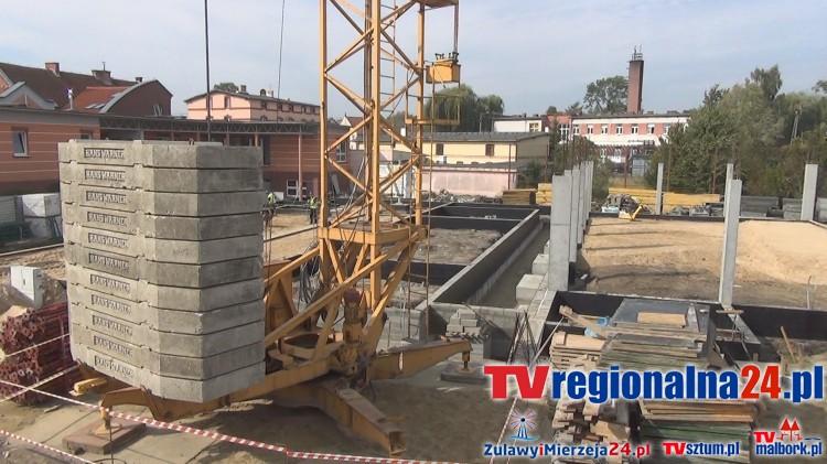 Gmina Malbork rozbudowuje Gimnazjum Gminne za 4.3 miliona złotych. Zobacz postępy prac – 16.09.2015