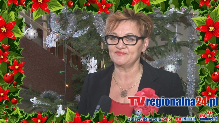 Życzenia świąteczne Burmistrza Miasta i Gminy Dzierzgoń Elżbiety Domańskiej – 22.12.2015