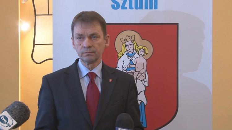 Przyznał się do winy. Briefing prasowy Burmistrza Miasta i Gminy Sztum (nagranie wideo) – 01.02.2016