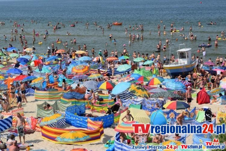 Stegna, Jantar, Mikoszewo, Sztutowo, Kąty Rybackie, Krynica Morska, Piaski - aktualna pogoda. Tłok na plaży? Zobacz to na naszych kamerach pogodowych LIVE