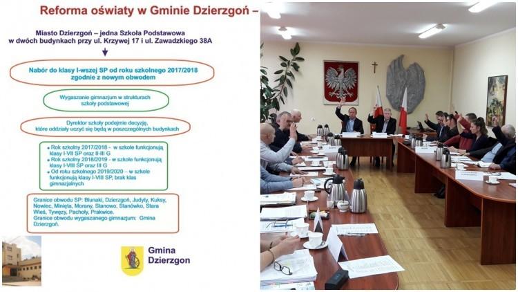Radni zdecydowali o nowej sieci szkół. XXVI sesja Rady Miejskiej w Dzierzgoniu…