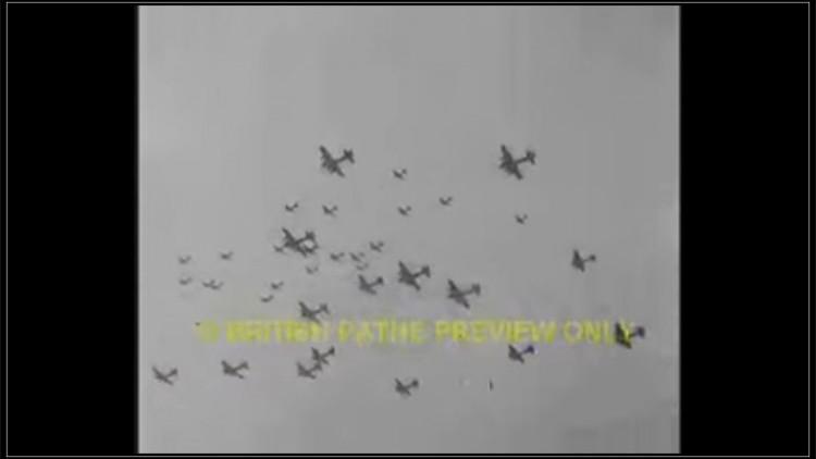 Malbork. 1943 bombardowanie lotniska
