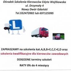 KURS NA PRAWO JAZDY oraz szkolenia kierowców zawodowych
