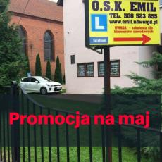Szkoła jazdy Emil - Promocja na maj