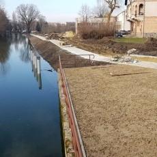 Budowa bulwarów i przystani kajakowych nad Tugą w Nowym Dworze Gdańskim…