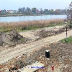 Bulwar nad Nogatem w Malborku. Zobacz, co się dzieje na budowie - listopad…