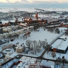 Zimowy Malbork, Zimowy Zamek Krzyżacki - 12 lutego 2021 - Malborskie…